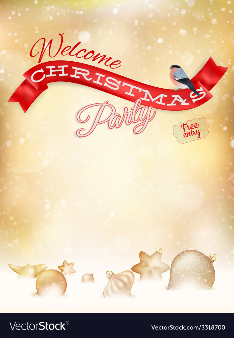 Christmas typography poster on gold bokeh eps 10 vector | Price: 1 Credit (USD $1)
