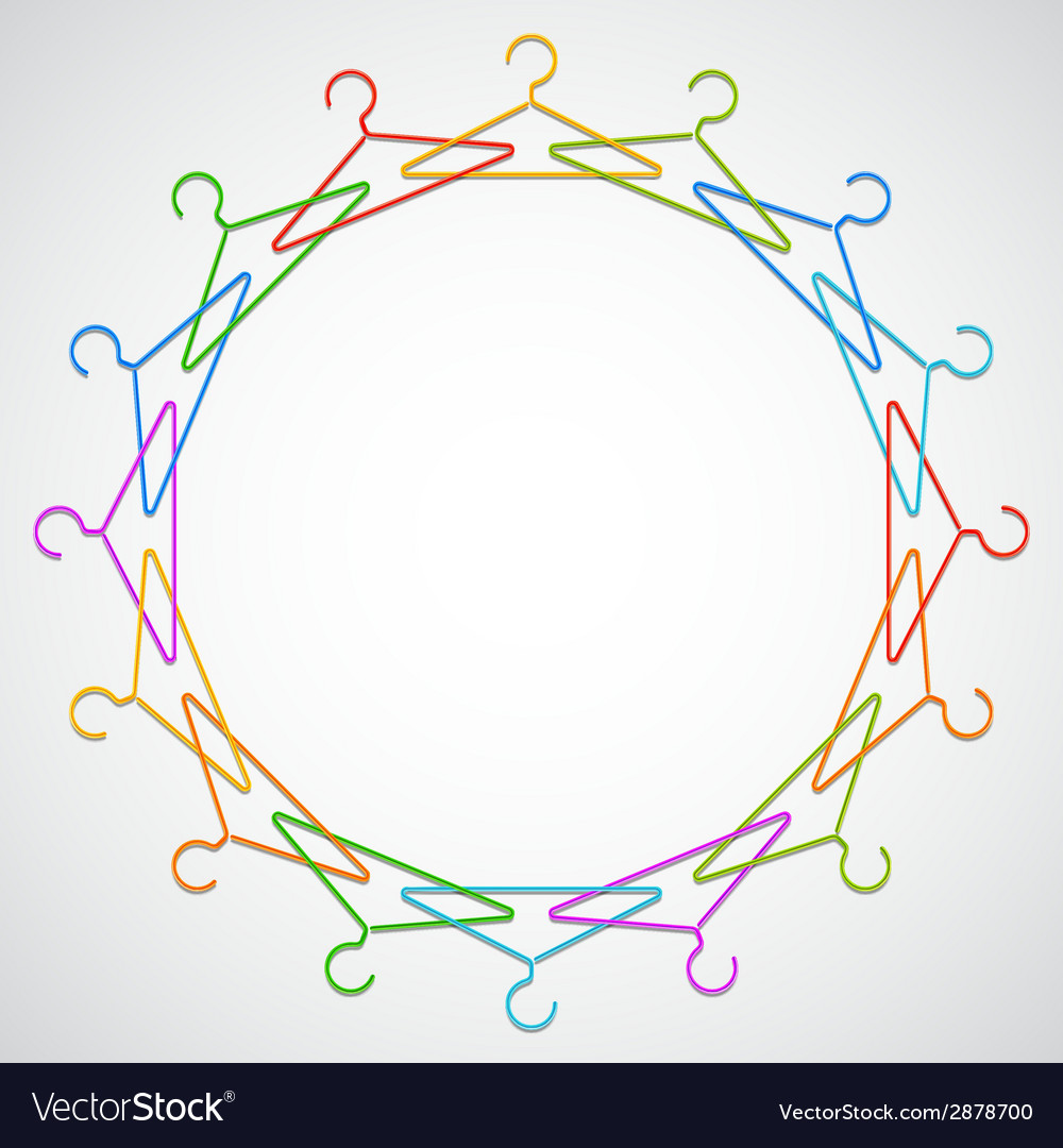 Color hangers vector | Price: 1 Credit (USD $1)