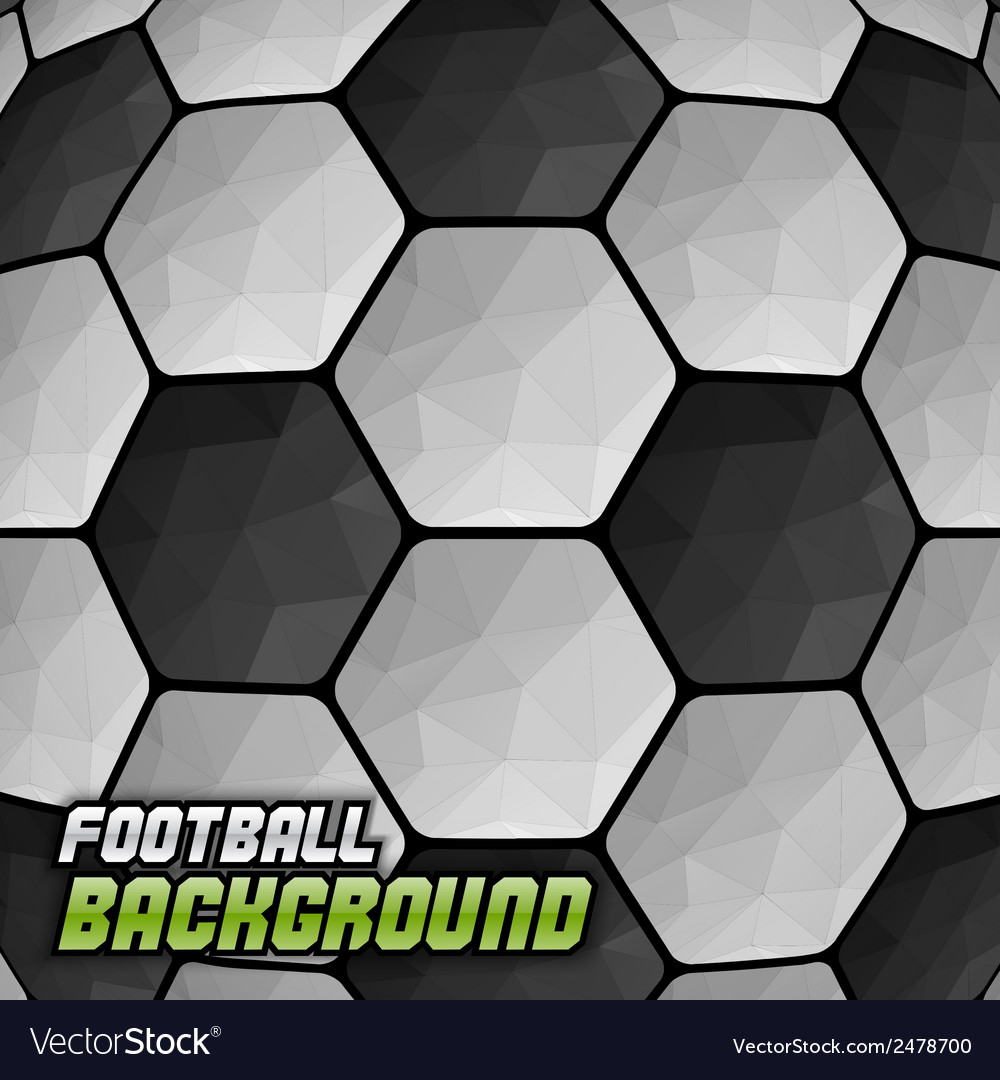 Football background triangles text vector | Price: 1 Credit (USD $1)