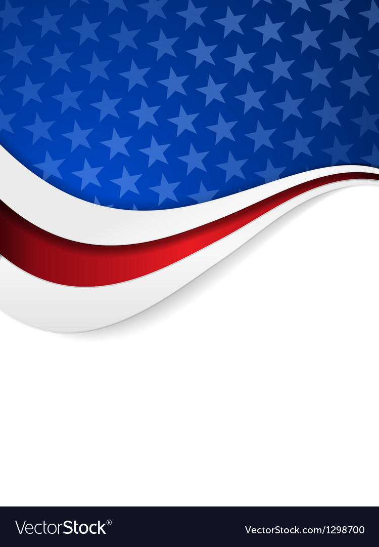 Stars and stripes themed background vector | Price: 1 Credit (USD $1)