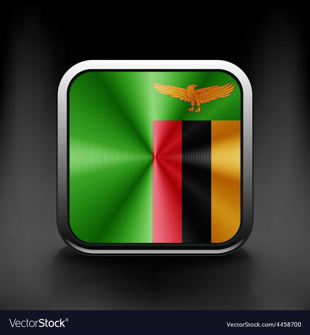 Zambia icon flag national travel icon country vector | Price: 1 Credit (USD $1)