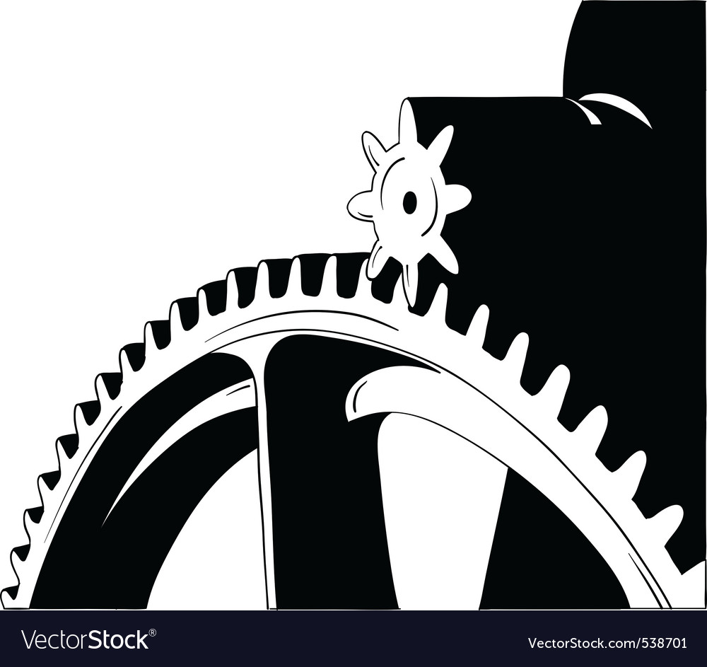 Big cogwheel isolated on the white vector | Price: 1 Credit (USD $1)