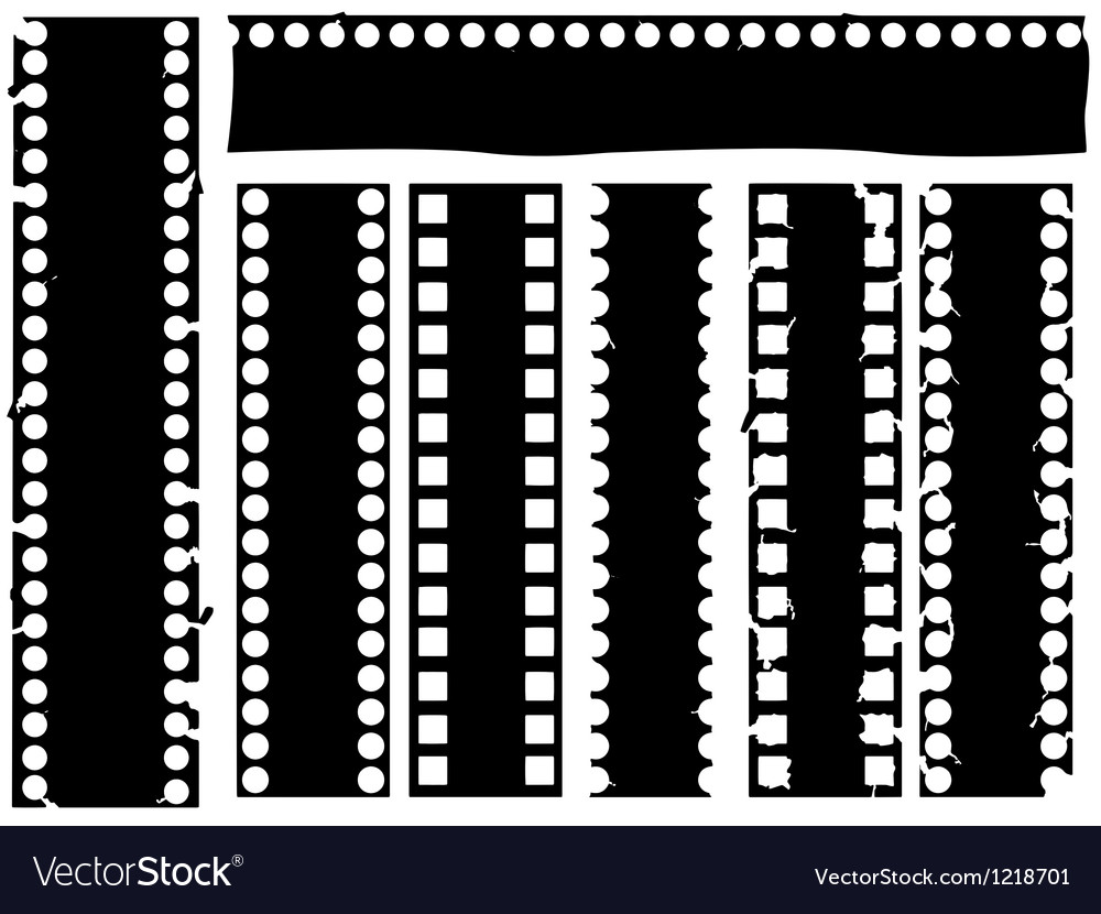 Broken grunge filmstrip vector | Price: 1 Credit (USD $1)