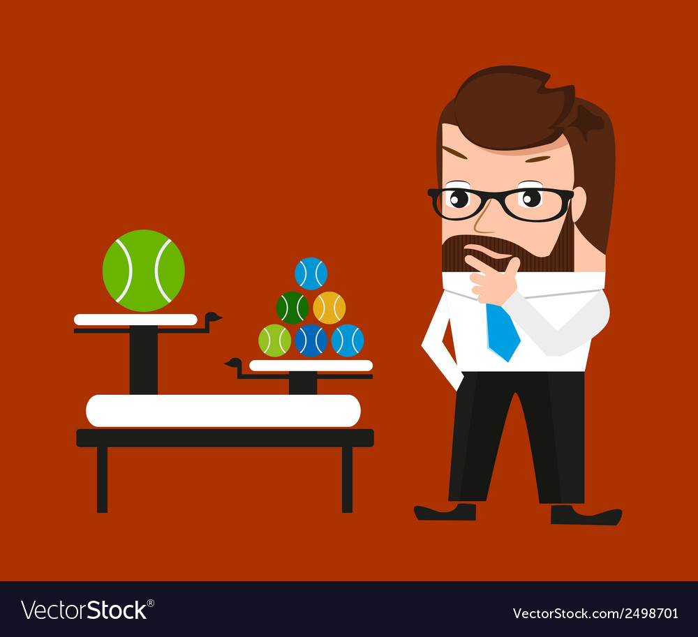 Businessman is pondering about clod technologies vector | Price: 1 Credit (USD $1)