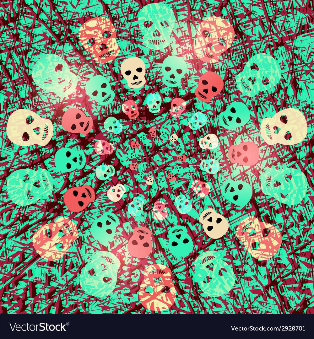 Creepy halloween background with skulls vector | Price: 1 Credit (USD $1)