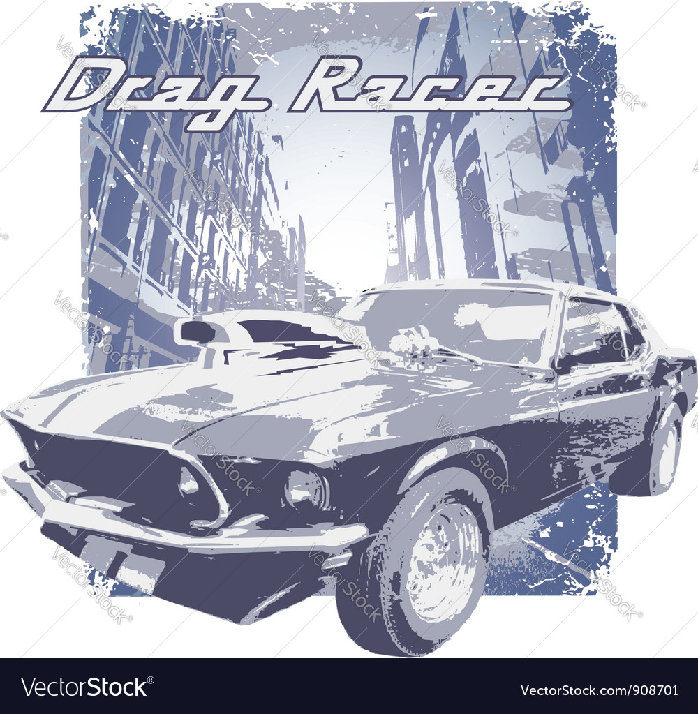 Drag racer vector | Price: 1 Credit (USD $1)