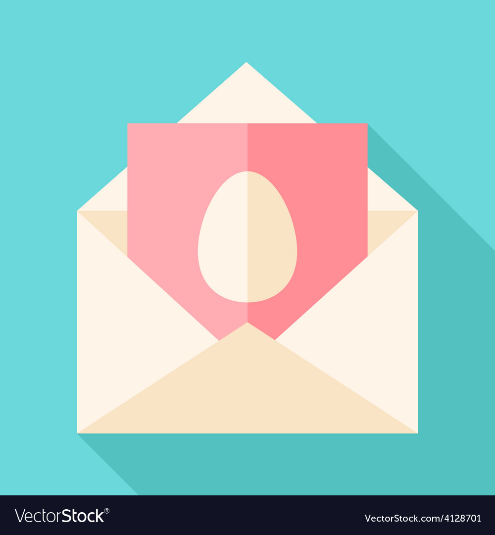 Envelope with egg vector | Price: 1 Credit (USD $1)