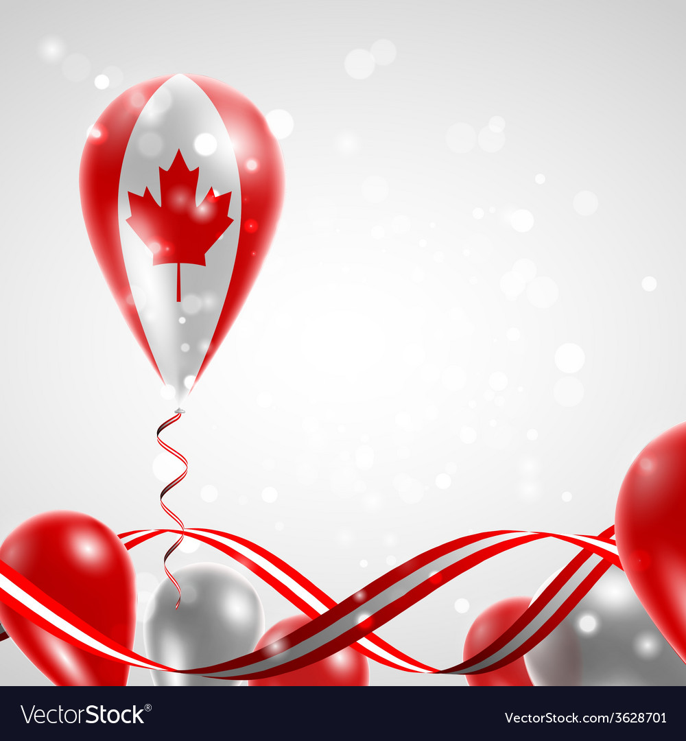 Flag of canada on balloon vector | Price: 1 Credit (USD $1)