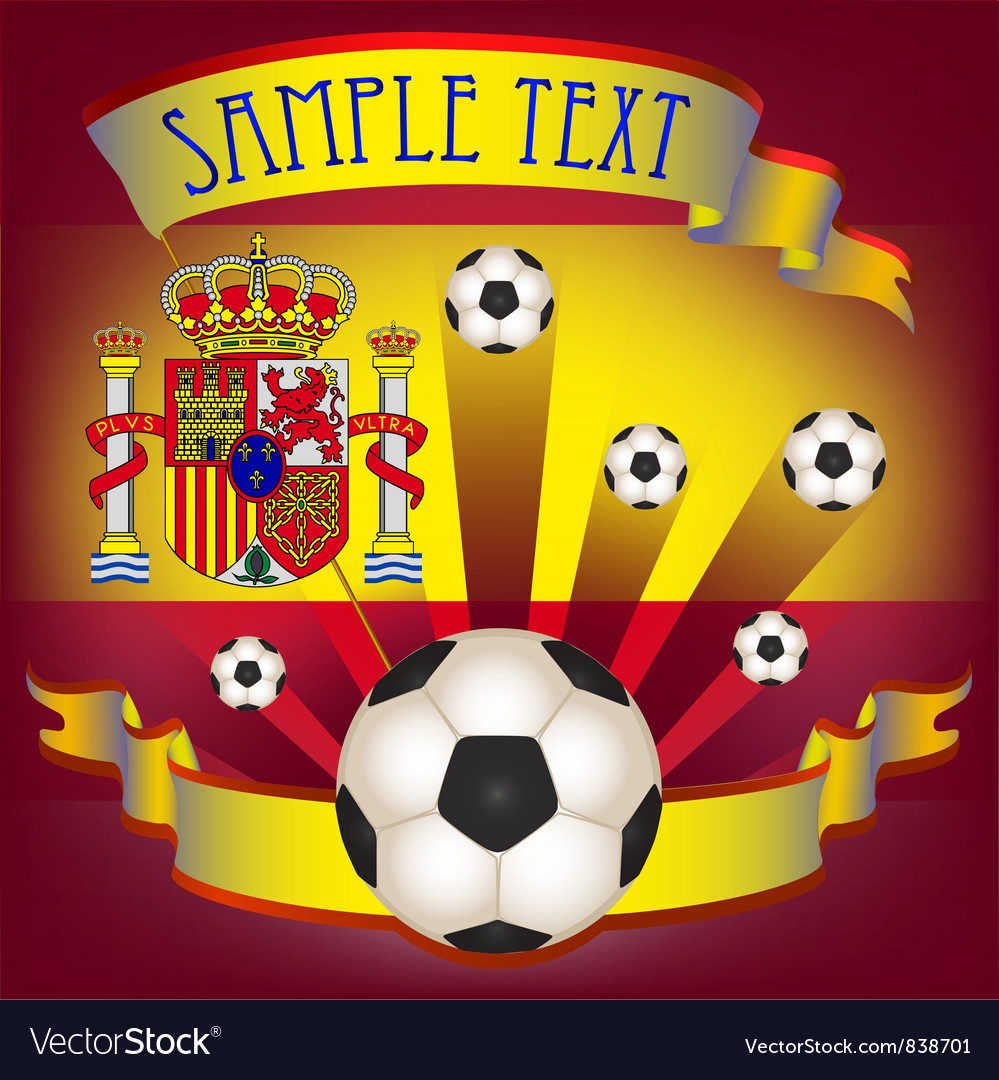 Football poster with spanish flag vector | Price: 1 Credit (USD $1)