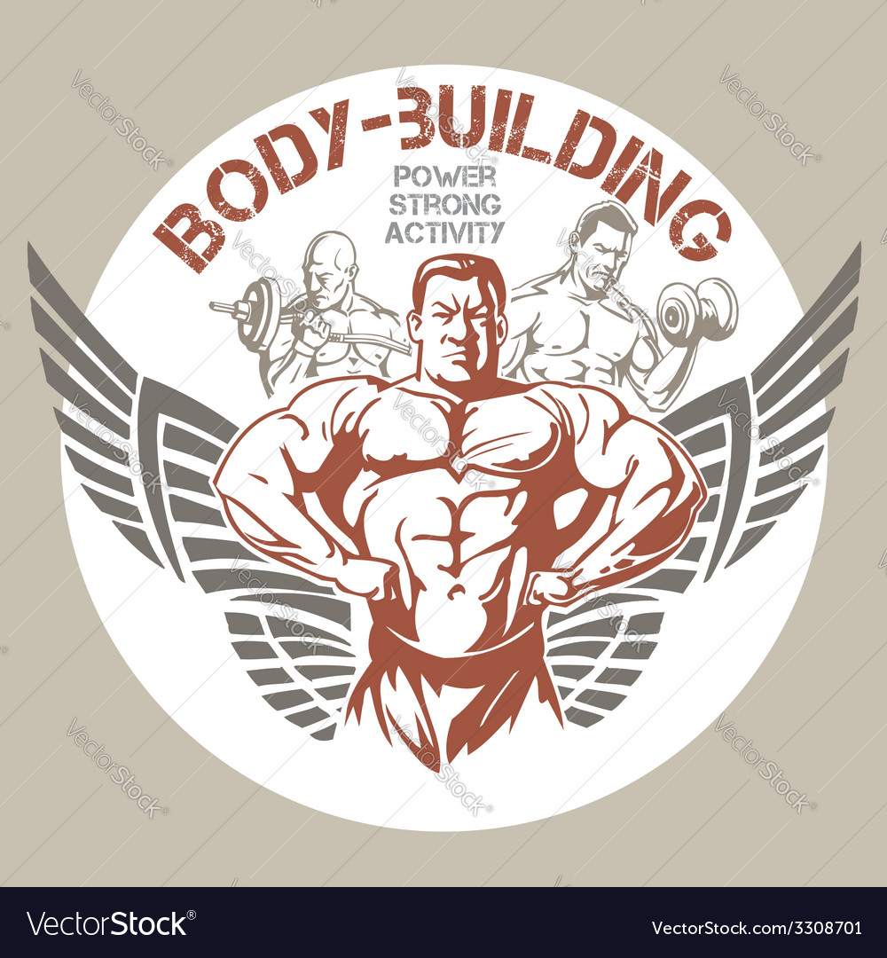 Gym bodybuilding - emblem vector | Price: 3 Credit (USD $3)