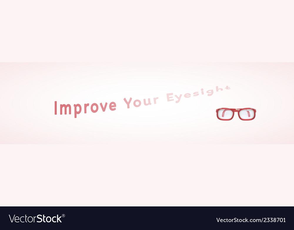 Improve your eyesight vector | Price: 1 Credit (USD $1)
