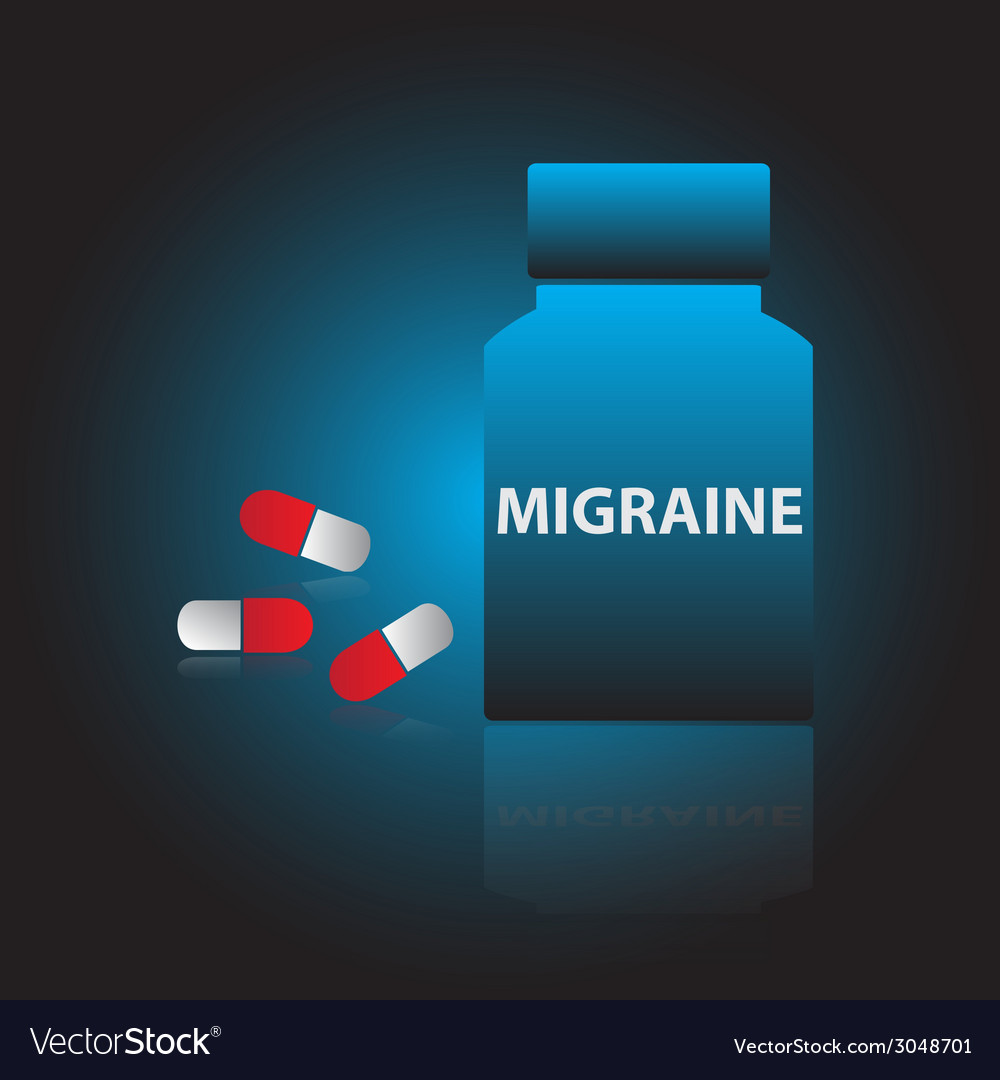 Migraine drugs blue box and red pills eps10 vector | Price: 1 Credit (USD $1)
