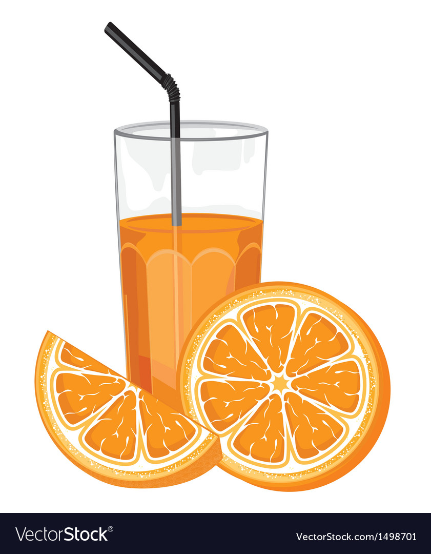 Orange juice and slice vector | Price: 1 Credit (USD $1)