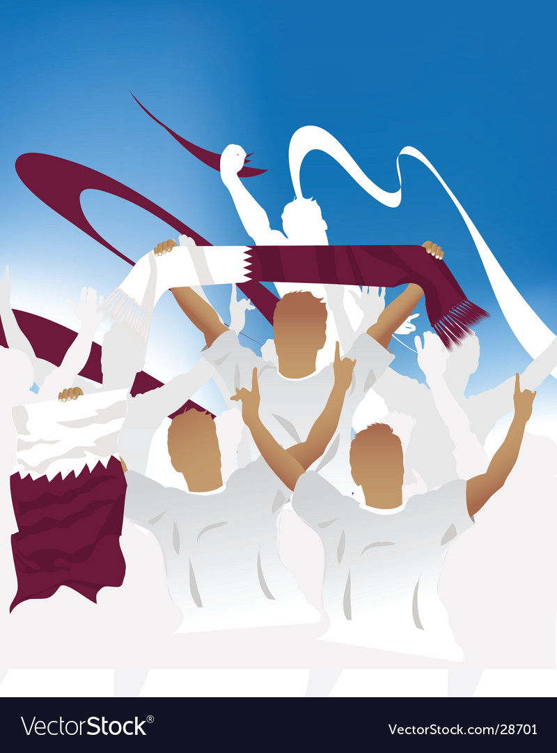 Qatar crowd vector | Price: 1 Credit (USD $1)