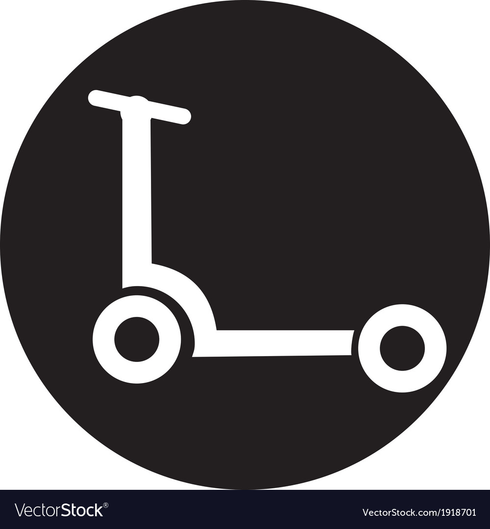 Scooter isolated vector | Price: 1 Credit (USD $1)