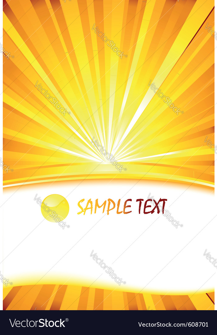 Sunburst card template vector | Price: 1 Credit (USD $1)