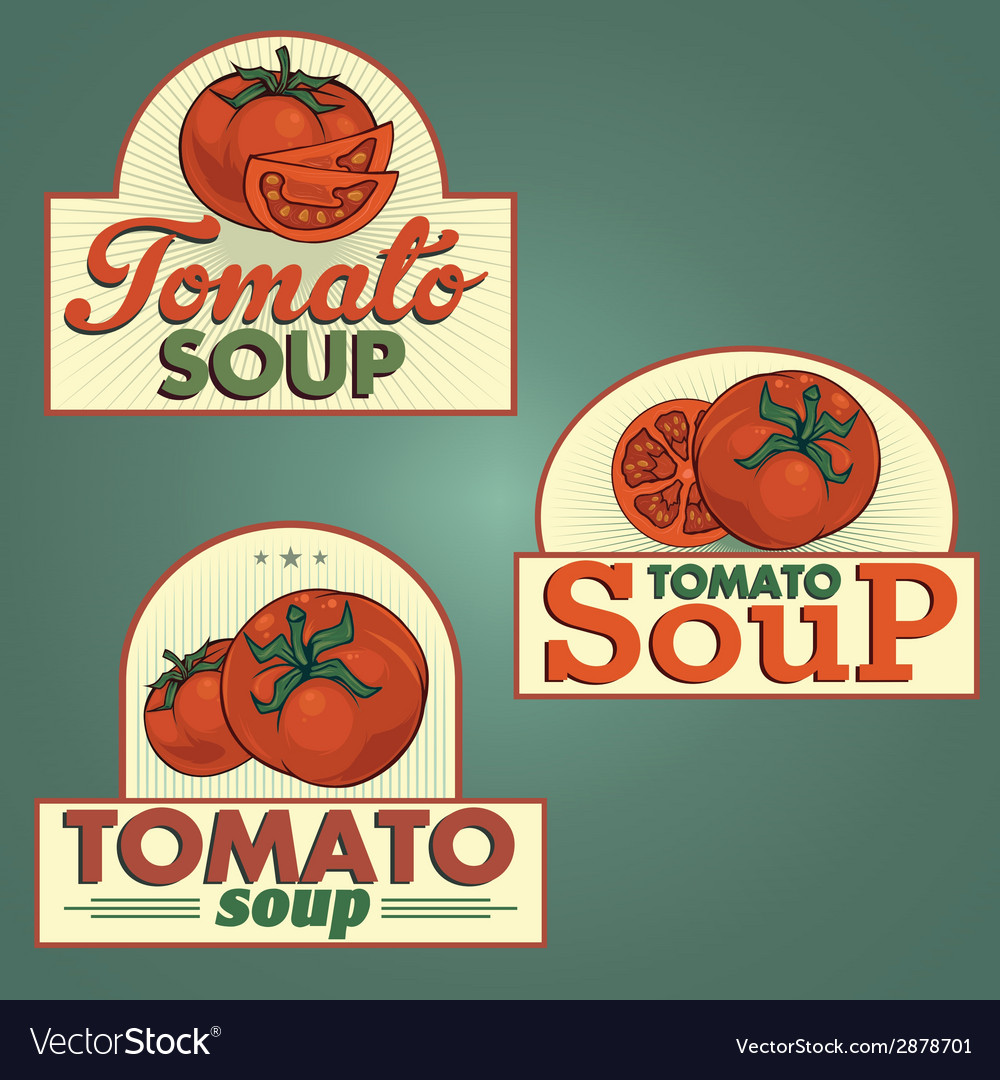 Tomato soup labels set vector | Price: 1 Credit (USD $1)