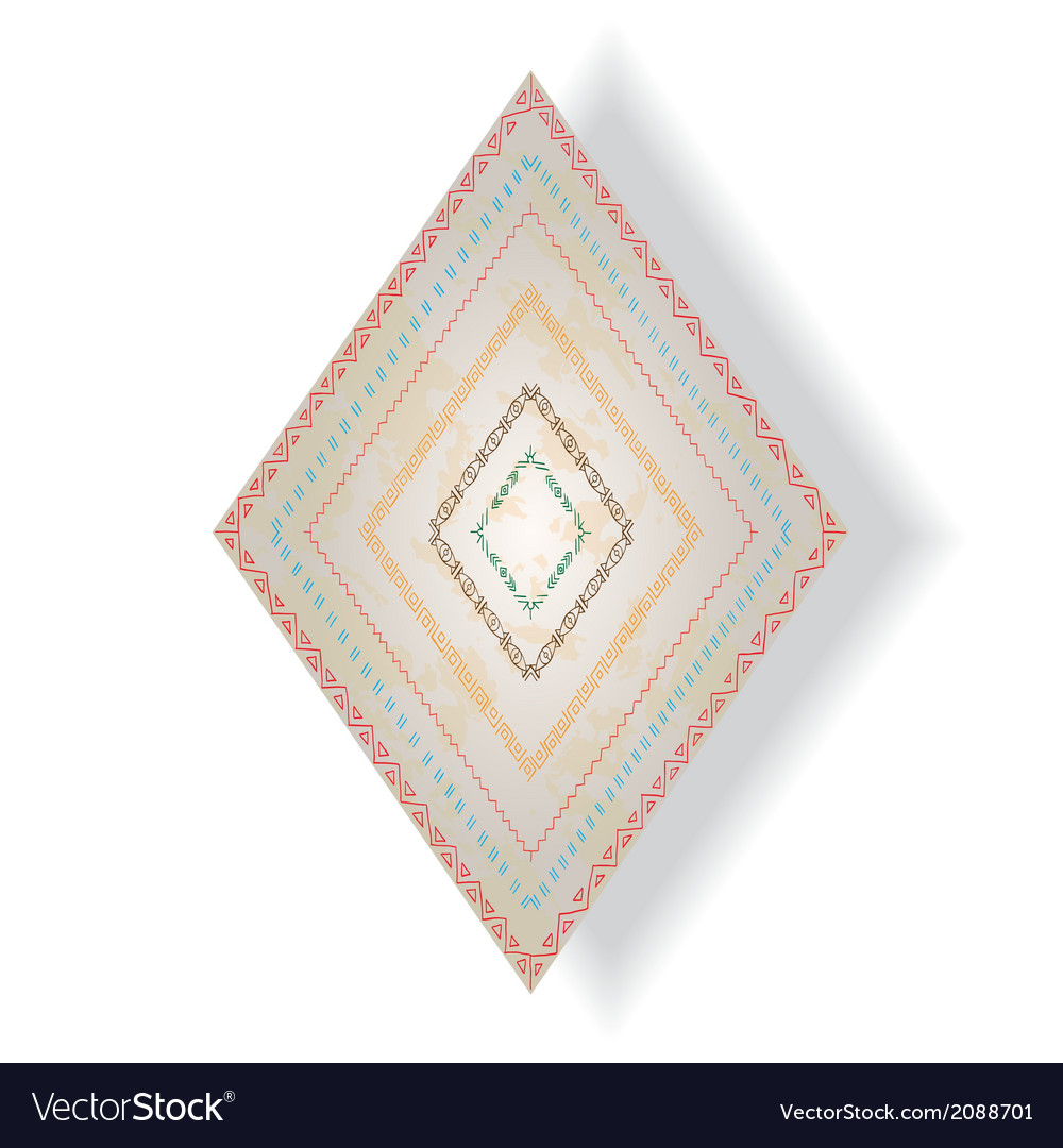 Tribal doddle rhombus with ethnic pattern vector | Price: 1 Credit (USD $1)