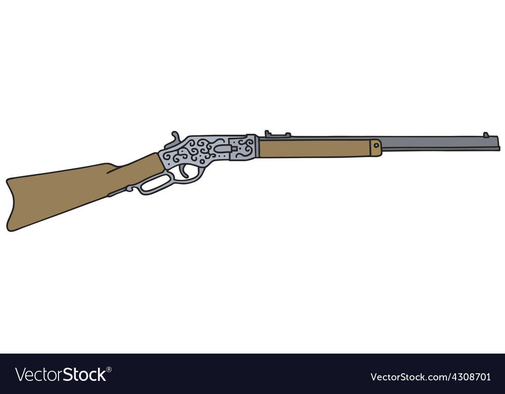Vintage american rifle vector | Price: 1 Credit (USD $1)