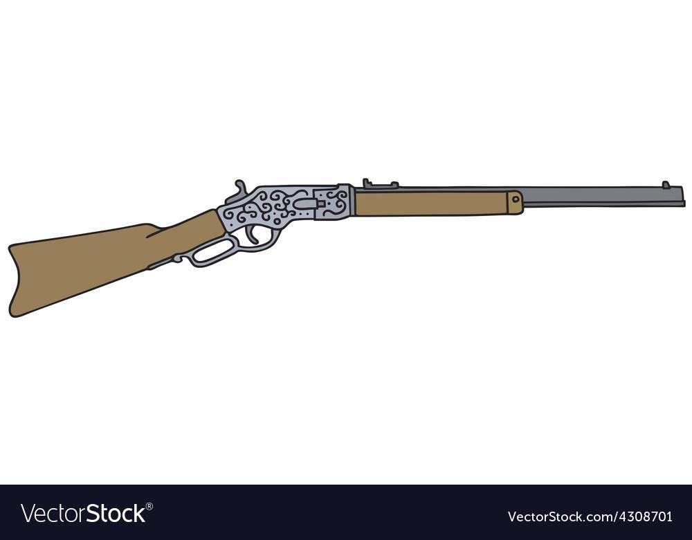 Vintage american rifle vector   Price: 1 Credit (USD $1)