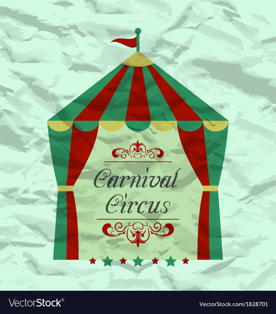 Vintage circus poster for your advertising vector | Price: 1 Credit (USD $1)