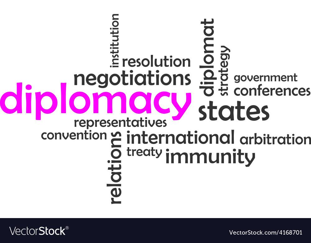 Word cloud diplomacy vector | Price: 1 Credit (USD $1)