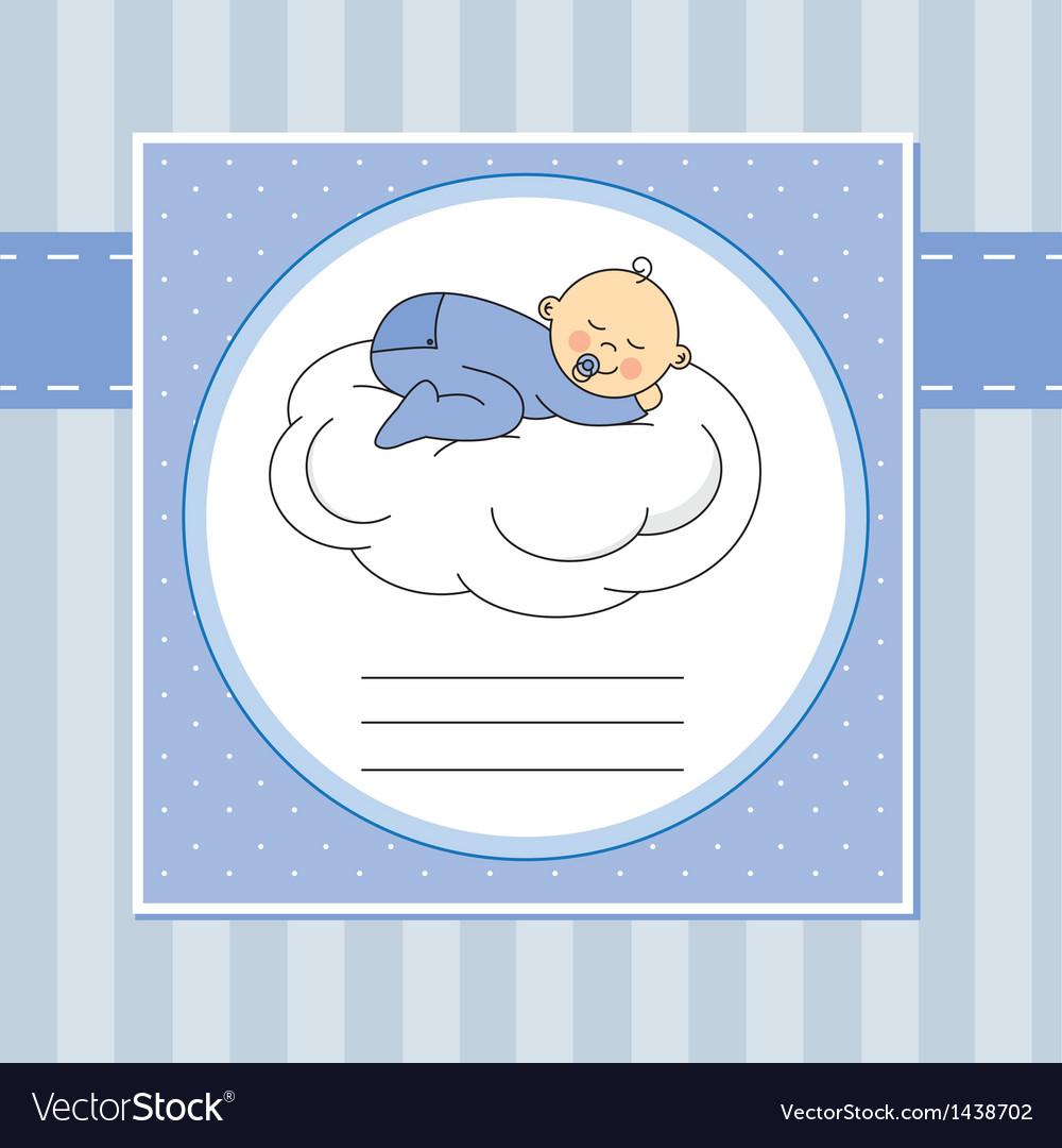 Baby sleeping on the moon vector | Price: 1 Credit (USD $1)