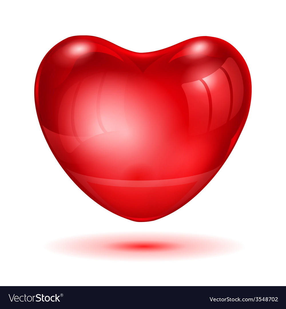 Big red glossy heart vector | Price: 1 Credit (USD $1)