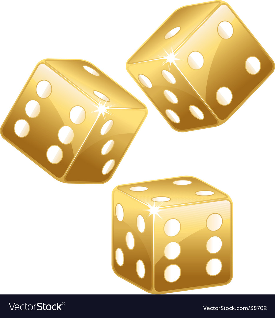 Golden dices vector | Price: 1 Credit (USD $1)