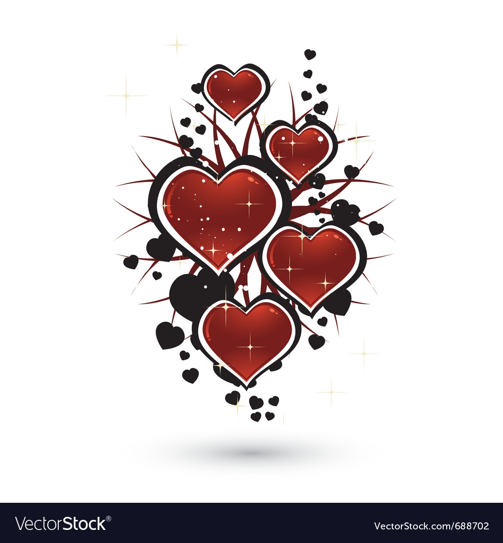 Hearts and stars vector | Price: 1 Credit (USD $1)