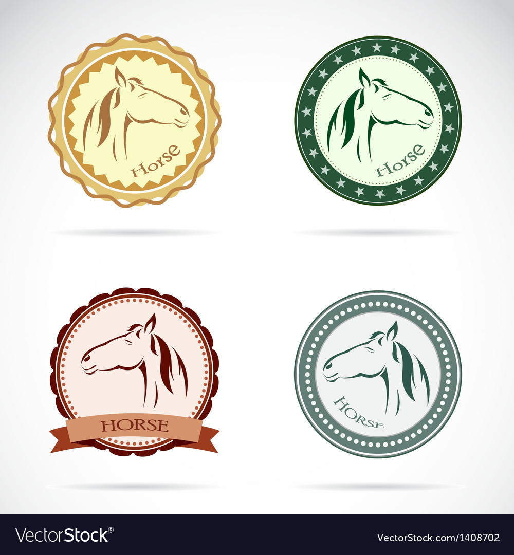 Horse labels vector | Price: 3 Credit (USD $3)