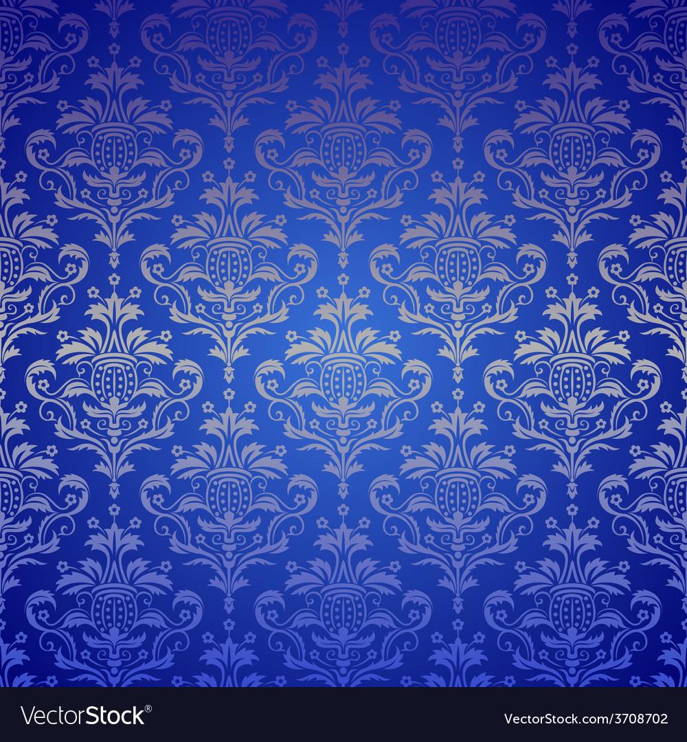 Luxury seamless golden floral wallpaper vector | Price: 1 Credit (USD $1)