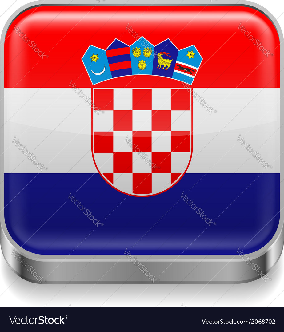 Metal icon of croatia vector | Price: 1 Credit (USD $1)