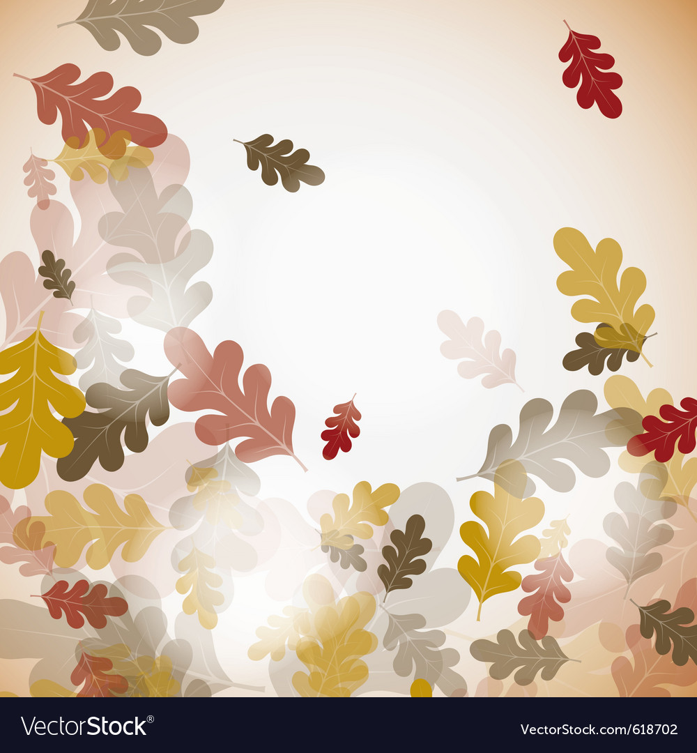 Oak autumn background vector | Price: 1 Credit (USD $1)