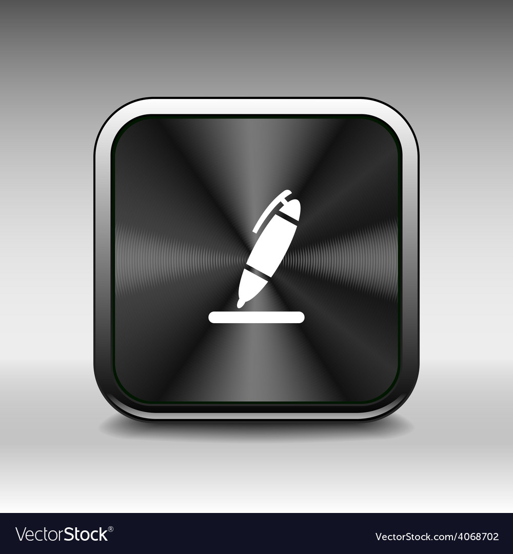 Pen icon tool interface sign symbol graphic vector | Price: 1 Credit (USD $1)