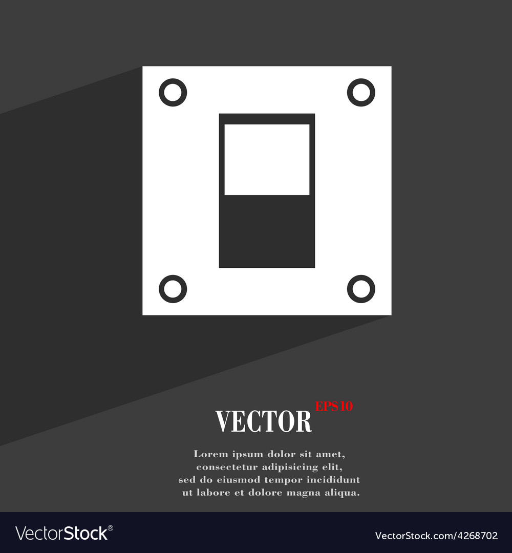 Power switch icon symbol flat modern web design vector | Price: 1 Credit (USD $1)