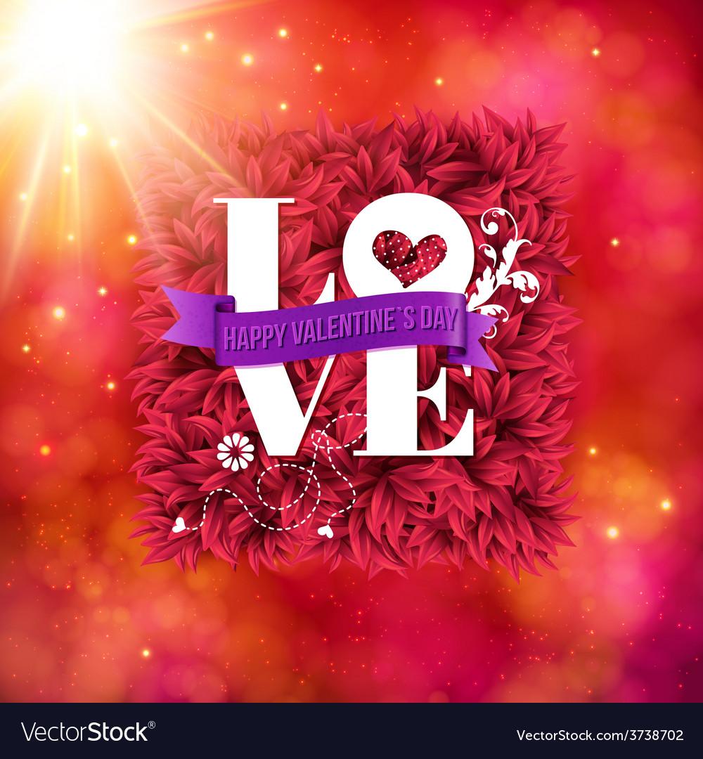 Sentimental love - happy valentines day card vector   Price: 1 Credit (USD $1)