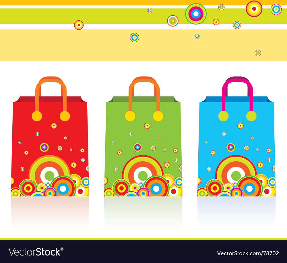 Three parer bags vector | Price: 1 Credit (USD $1)
