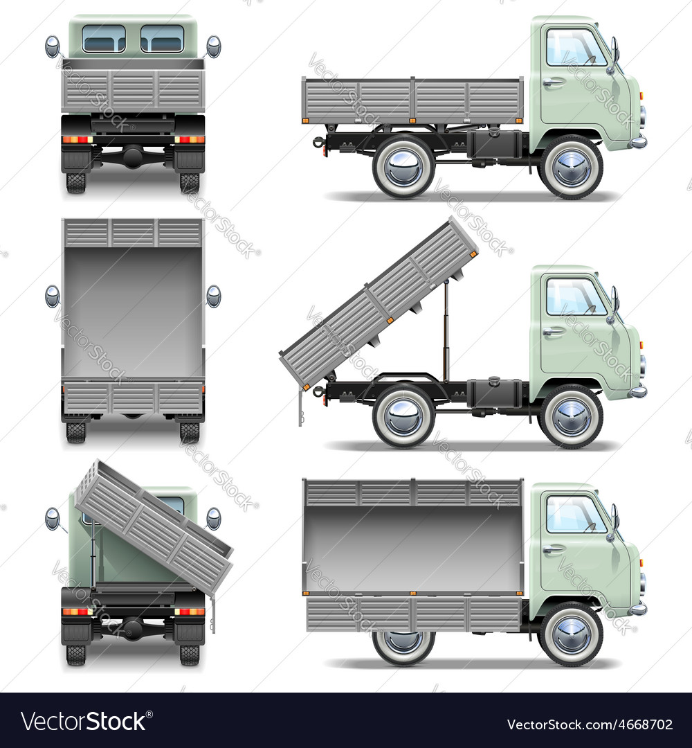 Tipper truck vector | Price: 5 Credit (USD $5)