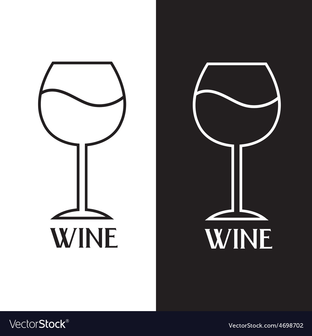 Wine glass design template vector | Price: 1 Credit (USD $1)