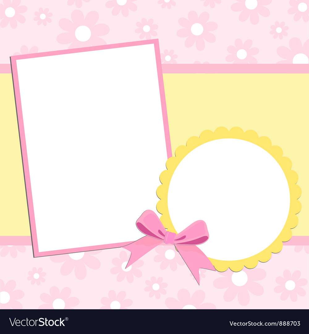 Blank template for greetings card vector | Price: 1 Credit (USD $1)
