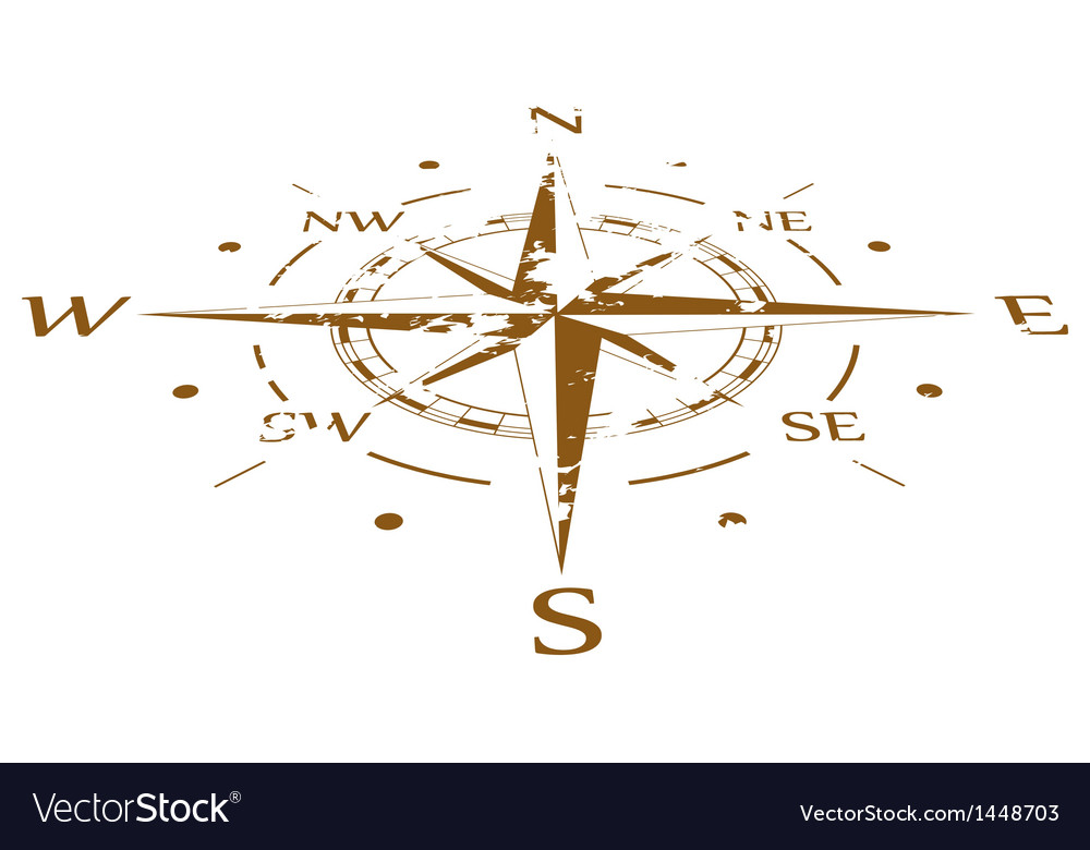 Brown grunge compass compressed vector | Price: 1 Credit (USD $1)