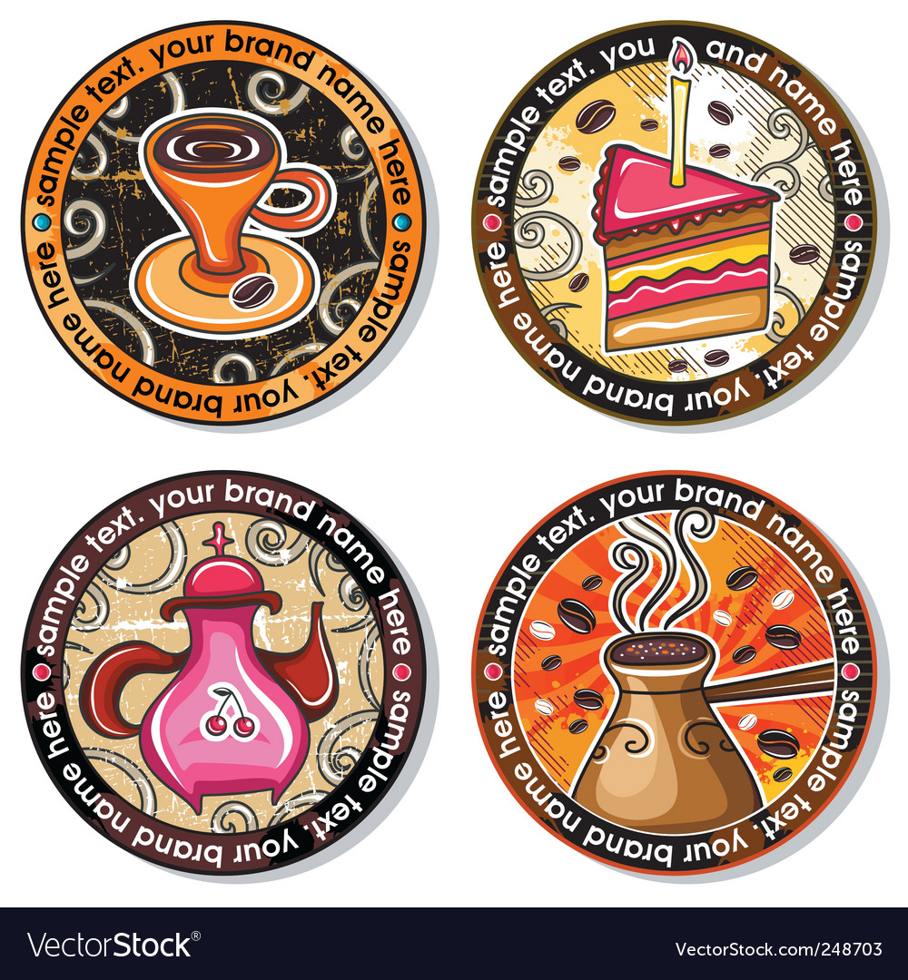 Coffee tea drink coasters vector | Price: 3 Credit (USD $3)