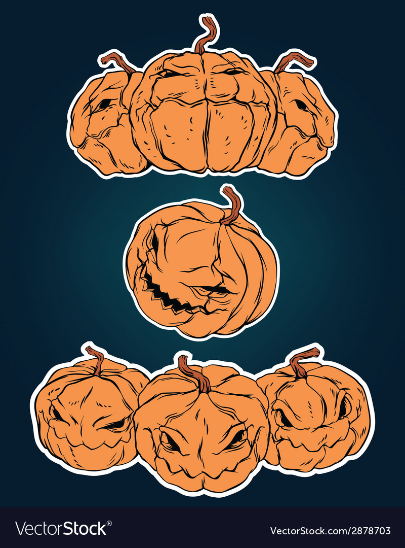 Halloween stickers set vector   Price: 1 Credit (USD $1)