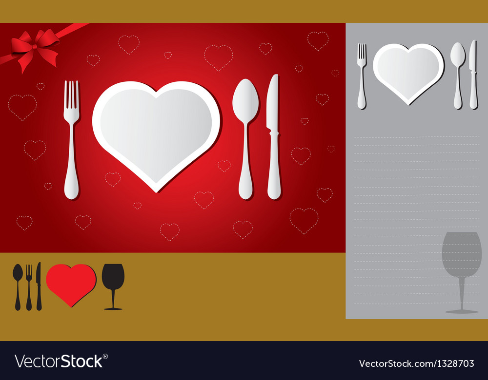 Menu of love vector | Price: 1 Credit (USD $1)