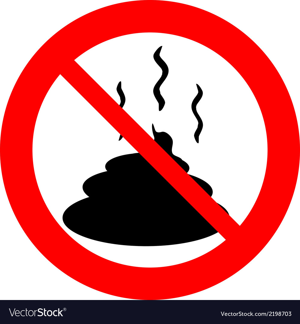 No shit sign vector | Price: 1 Credit (USD $1)