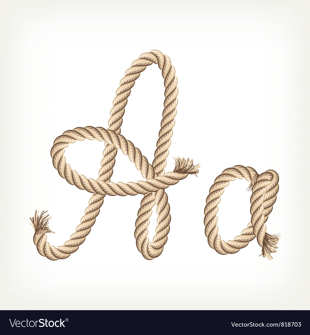 Rope alphabet letter a vector | Price: 1 Credit (USD $1)