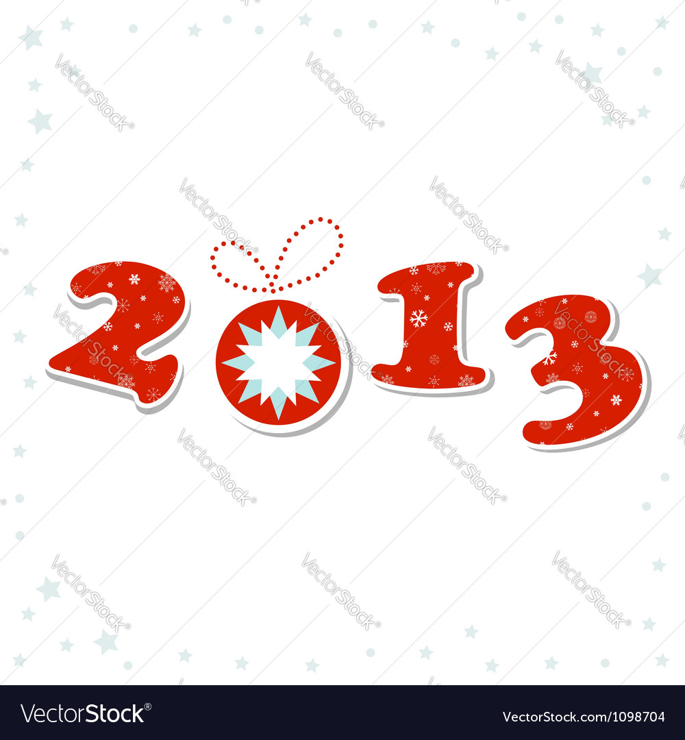 2013 happy new year greeting card vector | Price: 1 Credit (USD $1)
