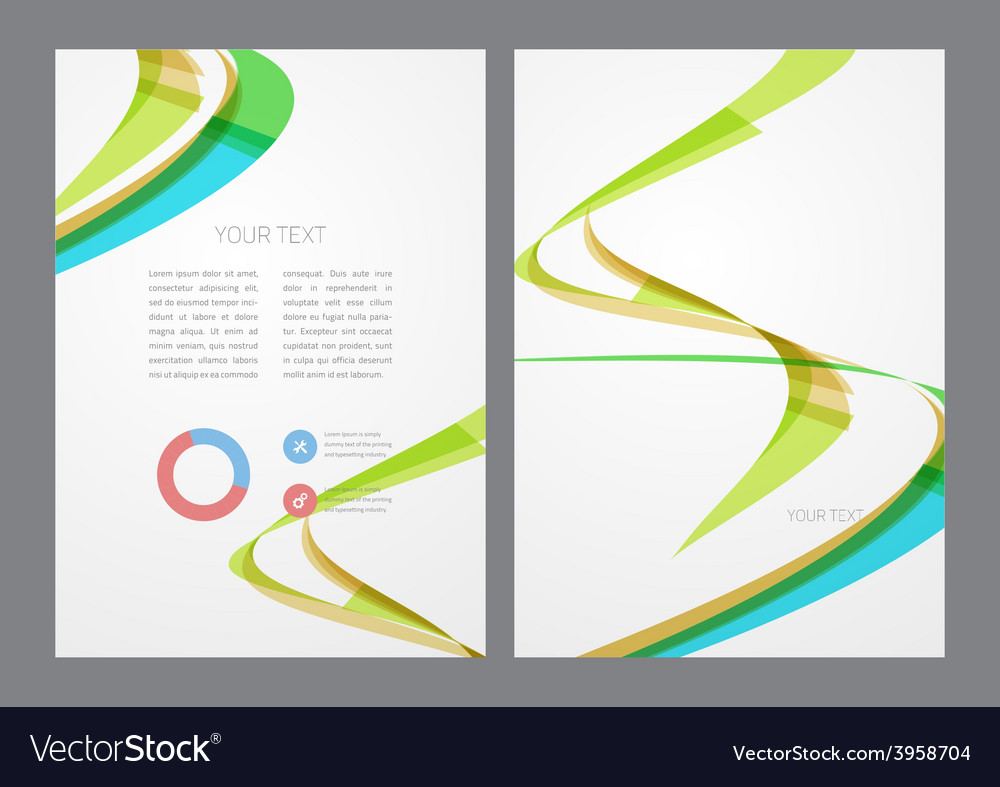 Abstract modern bright multicolored flyer vector   Price: 1 Credit (USD $1)