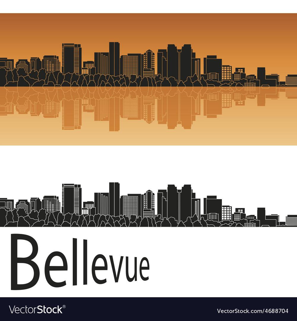 Bellevue skyline in orange vector | Price: 1 Credit (USD $1)